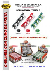 Hoja de catalogo CHELINES DE FRUTAS