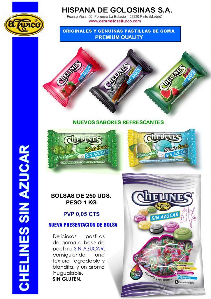 Hojas de Catalogo CHELINES SIN