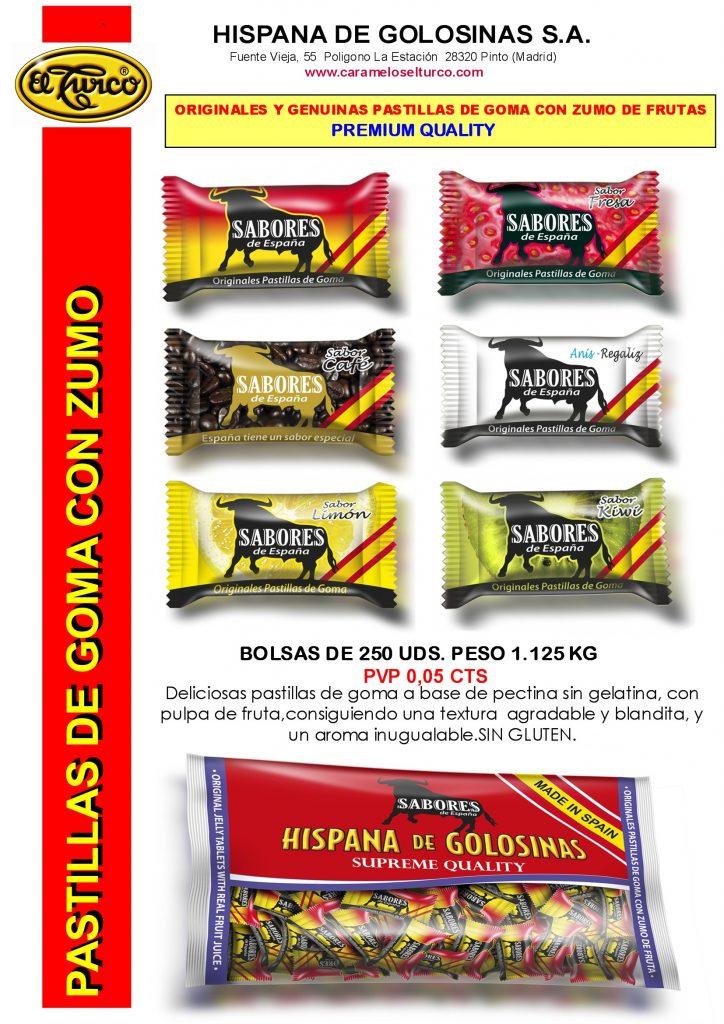 Hojas de Catalogo sabores españa