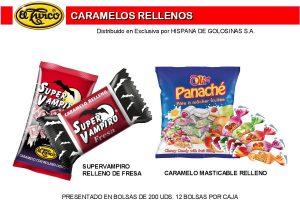 Hoja de Catálogo de Caramelos Rellenos